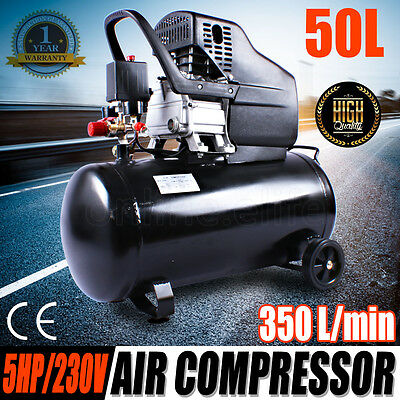 New Electric Air Compressor 50L 5HP 350 L/min Tank Oil FAST SHIPPING Safety OZ