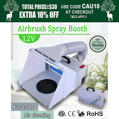 Foldable Airbrush Spray Booth Filter Hose Extractor Air Brush Art Craft Paint OZ