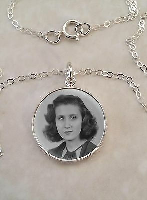 Your Custom Image Keepsake Photo Picture Sterling Silver Small Pendant Necklace