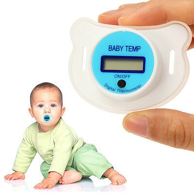 LCD Digital Baby Infant Kid Nipple Thermometer Soother Temp Mouth Health Safe