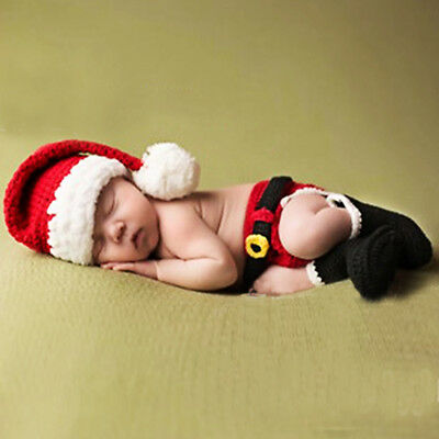 Baby Newborn Costume Outfit Photography Prop Animals Crochet Beanie Hat Set US