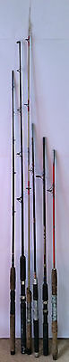 6 Fishing Rods- Bases only/For Parts