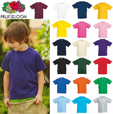 SET 10 Maglie Fruit Of The Loom T-shirt Bambino Maglietta Bambina Stock Cotone