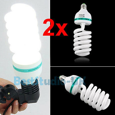 2x135W E27 Photo Studio Day Light Bulb Video Lighting Photography Lamps 5500K