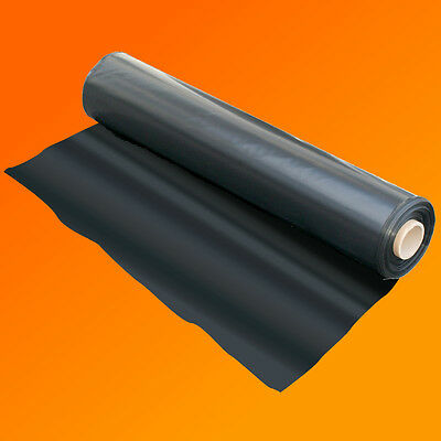 4M X 25M 500G Black Heavy Duty Polythene Plastic Sheeting Garden Diy Material