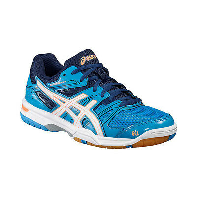 Asics Gel-Rocket 7 Women's Indoor Court Shoes – Blue Jewel/White/Flash Coral