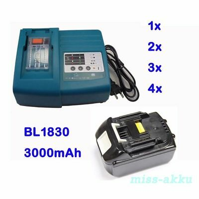 DC18RA DC18RC Charger for Makita / 18V 3.0Ah Battery BL1830 BL1815 LXT Li-Ion AU
