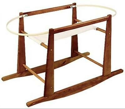 Jolly Jumper Rocking Moses Basket Stand, Expresso, New, Free Shipping