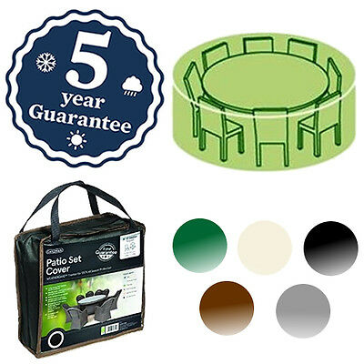 Gardman Deluxe 4-6 Seater Round Table Cover Waterproof Patio Furniture 5 Colours