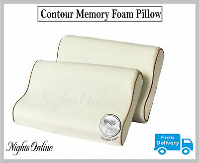Luxury Large Contour Memory Foam Pillow Orthopaedic Optimal Head Neck Support