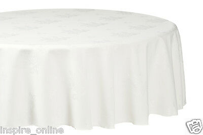 New Damask Flower Rose Jacquard Round Table Cloth Party Wedding Event Tableware