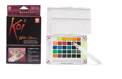Sakura Koi Watercolour Paint 30 Colours with Brush Sketch Set