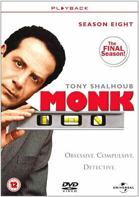 MONK COMPLETE SERIES 8 DVD Box Set Season New and Sealed 8th Eighth UK R2