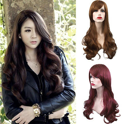 New Women Girl Fashion Long Wavy Curly Hair Cosplay Costume Party Full Wigs LC