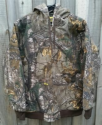 Realtree Camo Insulated Jacket with Hood Hunting Fishing  - LARGE