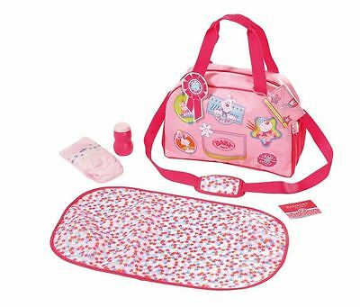 Zapf Creation Baby Born Doll Changing Carry Bag Childrens Toy Pink 3+