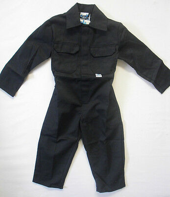 Childrens Kids Boys Overalls Coverall Work Wear Boiler Suit Outfit Navy Camo