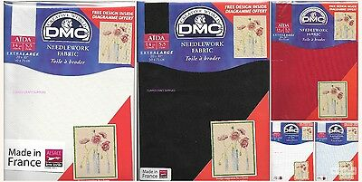 "DMC Pre Packed  14 count Aida - 20 x 30"" various clolours"