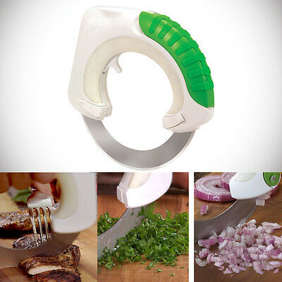 Rolling Knife Stainless Vegetable Slicer Food Circular Cutter Kitchen Tool Cut