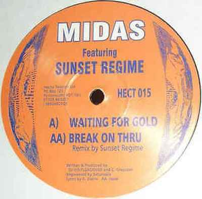 "Midas - Waiting For Gold / Break On Thru (Remix) 12"" HECTIC RECORDS"