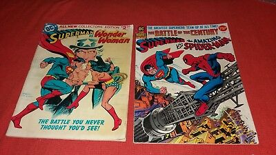 SUPERMAN vs SPIDER-MAN 1 DC / MARVEL SUPERMAN vs WONDER WOMAN 1 TREASURY EDITION