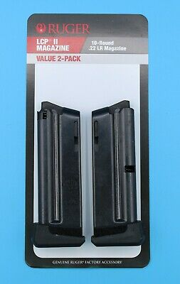 NEW Value 2-Pack Ruger LCP II LCP 2 .22-LR 22 Pistol 10 Round Magazine 90697 OEM