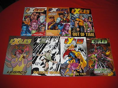 EXILES 1 -45 VOL 1 2 3 4 6 7 TPB POINT OF NO RETURN 1 -6 GRAPHIC NOVEL Wolverine