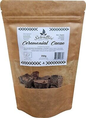 Ceremonial  Cacao, 100% Organic & Raw, 250g From Ashaninkas Tribe in Peru