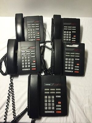 Lot Of 5 Aastra 8009  / Northern Telecom 9409 Phones Black Free Shipping