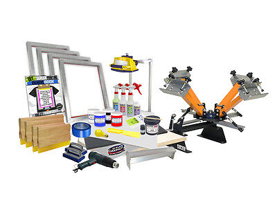 DIY 4 Color Shocker© Semi-Pro Screen Printing Kit - Press Printer Starter 41-4