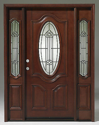 Summer SALE! Solid Wood Mahogany Unit Pre-hung& Finished TMH7350-GL02