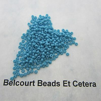 25 Grams Turquoise Blue Opaque Size 10/0 Czech Glass Preciosa Seed Beads