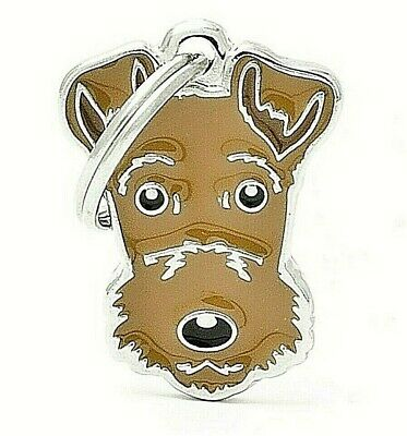 Airedale Terrier Dog ID Tag (65) - Engraved FREE - Personalised - Charm