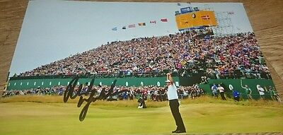 "Phil Mickelson signed 12x8"" British open golf photo COA / proof"