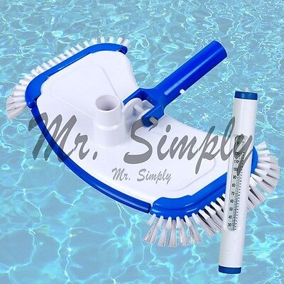 Pool Vacuum Head Bumper Weights And Side Brushes Jacuzzi White Thermometer New