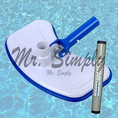Swimming Pool Vacuum Head Bumper Weights Jacuzzi Spa V Clip New Gray Thermometer