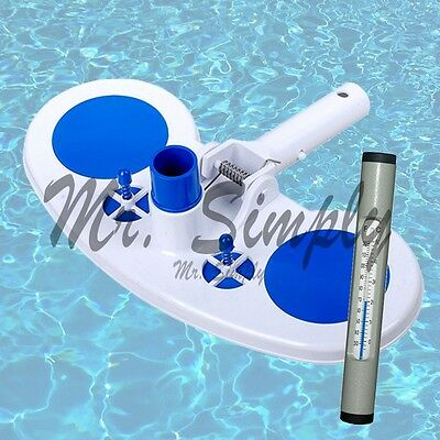 Vacuum Head With Air Relief Valves Spring On Handle Pool Spa Ne Gray Thermometer