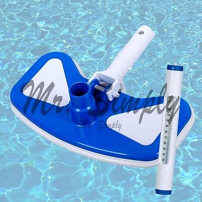 Pool Jacuzzi Deluxe Vacuum Protective Bumper And Weights White Thermometer New