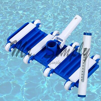 """Professional 14"""" Flexible Vacuum Head Cleanner Pool Spa New White Thermometer"""
