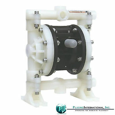 "Double Diaphragm Air Pump Chemical Industrial Polypropylene 1/2 or 3/4"" NPT"