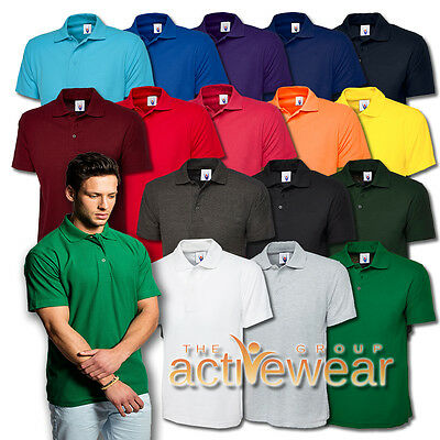 Uneek Mens Adult Short Sleeve Classic Polo Shirt (16 Colours) - UC101