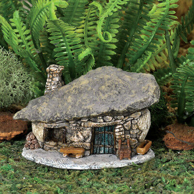 Fairy Garden Mini - Micro Mini Rock Blue Door Troll House