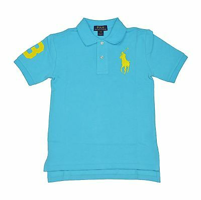 New Ralph Lauren Boys Tropic Turq Polo Shirt Embroidery Big Pony L(14-16) Msrp45