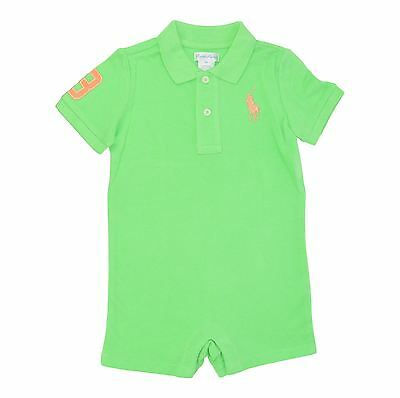 Ralph Lauren Toddlers Summer Green Polo Shirt Big Pony Embroidered 9M Msrp29.5