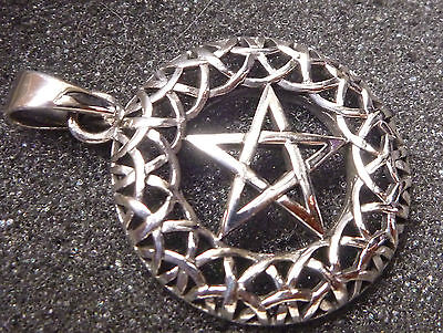 Celtic , Star Pendant 925 Sterling Silver 4.8g