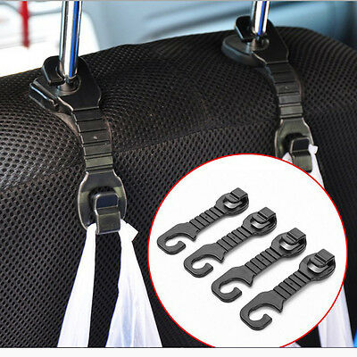 New 2pcs Car Back Seat Headrest Hanger Holder Hooks For Bag Purse Cloth Stand CN