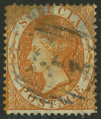 St Lucia  1864  Scott #14    USED
