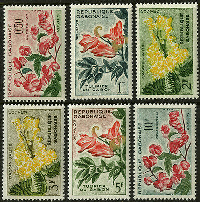 Gabon   1961    Scott #154-159   MLH  Set