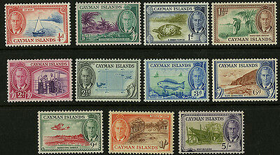 Cayman Islands   1950    Scott #122-131, 133   Mint Lightly Hinged Part Set