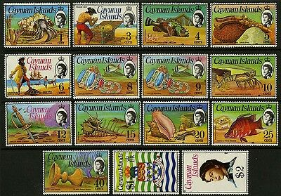 Cayman Islands   1974-75    Scott # 331-345   Mint Lightly Hinged Set